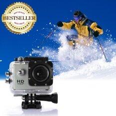 กล้องจักรยาน กล้อง action cam กล้องกันน้ำ waterproof 30m Full HD สีเงิน
