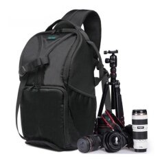 โปรโมชั่น Waterproof Photo Camera Sling Backpack Bag For Canon Dslrcamerasgreen Intl จีน
