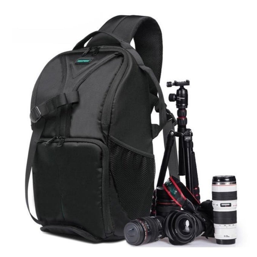 Waterproof Photo Camera Sling Backpack Bag for Canon DSLRCamerasGreen - intl