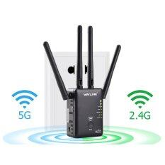 Wavlink Ac750 Wireless Router And Range Extender Repeater Wps Button With 3 External Antennas Black Intl เป็นต้นฉบับ