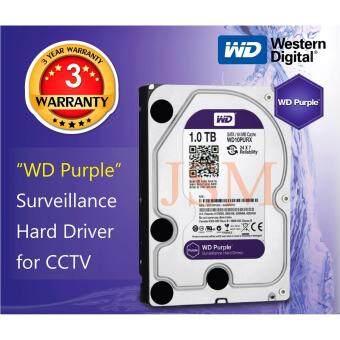 ฮาร์ดดิสก์กล้องวงจรปิด WD Purple 1.0 TB
