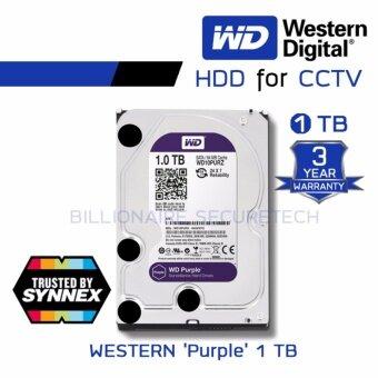 WD Purple 1TB 3.5\ Harddisk for CCTV - WD10PURZ ( สีม่วง ) (by SYNNEX)