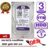 ซื้อ Wd Purple 1Tb For Cctv Wd10Purx สีม่วง รับประกัน 3 ปี แถมฟรีสาย Sata Hdd ออนไลน์ ถูก