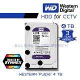 โปรโมชั่น Wd Purple 4Tb 3 5 Harddisk For Cctv Wd40Purz สีม่วง By Synnex