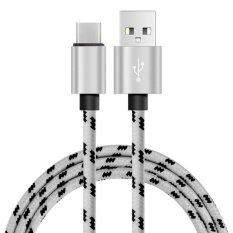 Whyus Practical 3M Knitting Type C Data Sync Charging Cable For Samsung Galaxy C9 Pro Lg V20 G5 White Intl ถูก
