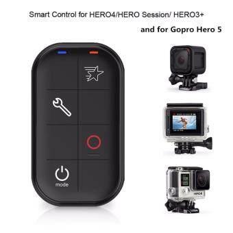 WIFI กันน้ำสมาร์ทรีโมทคอนโทรลพร้อมสายชาร์จและสายคล้องข้อมือสำหรับ GP H5 เซสชัน H4 เงิน h4 สีดำ H3 + HERO Session (Black)