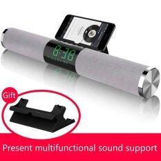 ราคา Wireless Bluetooth Speaker Mobile Phone Alarm Clock Subwoofer Car Audio Intl ใหม่