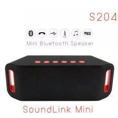 ซื้อ Wireless Speaker Mini Bluetooth Speaker Super Bass ลำโพงบลูธูท รุ่น S204 สีดำ Wireless Speaker เป็นต้นฉบับ