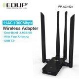 ซื้อ Wireless Usb Wifi Adapter 1900Mbps Edup Wifi Receiver Antenna 5G Usb Wireless Adapter Wifi Ac Wifi Network Card Usb For Laptop