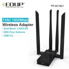 Wireless Usb Wifi Adapter 1900mbps Edup Wifi Receiver Antenna 5g Usb Wireless Adapter Wifi Ac Wifi Network Card Usb For Laptop -Intl.