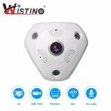 ส่วนลด Wistino 3 Megapixel Wireless 360 Degree Fisheye Panoramic Ip Camera Wifi Home Security Surveillance Camera Super Wide Angle Support Night Vision Motion Detection Wistino ใน จีน