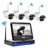 Wistino 4Ch Cctv System Hd 720P Wireless Nvr Security Ip Camera P2P Wifi Kit Outdoor 1Mp Monitor Kits Ir Lcd Screen Surveillance Intl เป็นต้นฉบับ