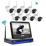ซื้อ Wistino Cctv System Kit Wireless 8Ch Nvr Security 720P Ip Camera Wifi Outdoor P2P Monitor Kits Ir Lcd Screen Surveillance Cam Intl จีน