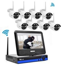 โปรโมชั่น Wistino Cctv System Kit Wireless 8Ch Nvr Security 720P Ip Camera Wifi Outdoor P2P Monitor Kits Ir Lcd Screen Surveillance Cam Intl จีน