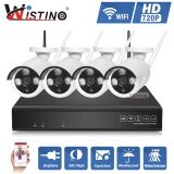 ขาย Wistino Hd 4Ch 720P Wireless Nvr Kit P2P Outdoor Ir Night Vision Security Wifi Ip Camera Cctv System Plug And Play Street Intl Wistino ใน จีน