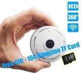 ทบทวน With Free 16G Tf Card Panoramic Wifi Hd 1080P Home Business Security Ip Camera With Real Time 32Ft Night View 360 Degree Coverage Without Any Blind Spot Intl