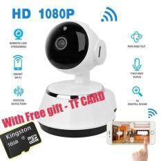ขาย ซื้อ ออนไลน์ With Free 16G Tf Card Wireless Home Security Wifi Usb Baby Monitor Alarm Ip Camera Hd 1080P Audio Infrarde Hd Night Vision Intl