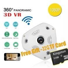 ซื้อ With Free 32G Tf Card Wifi 1080P 360 Degree Fisheye Panoramic Camera Hd Wireless Vr Ip Camera P2P Indoor Security Wifi Camera Intl ออนไลน์ จีน
