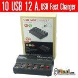 ราคา Wlx W838 By 9Final Portable 10 Port Usb Fast Charger 12 Amp Power Control Smart Fast Charger Black Wlx เป็นต้นฉบับ