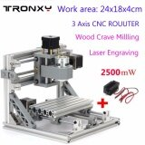 ราคา Work Area 24X18X4Cm 3 Axis Diy Mini Cnc Milling Machine Wood Engraving Router Kit 2500Mw Laser Engraver Intl