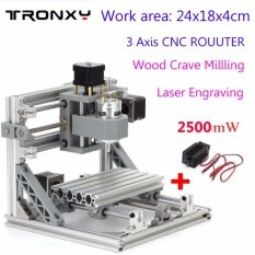 ขาย Work Area 24X18X4Cm 3 Axis Diy Mini Cnc Milling Machine Wood Engraving Router Kit 2500Mw Laser Engraver Intl