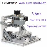 ซื้อ Work Area 30X18X4Cm 3 Axis Mini Cnc Router Engraver Pcb Pvc Milling Wood Carving Machine Diy Set Kit Intl ถูก จีน