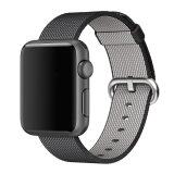 ราคา Woven Fabric Loop Strap Nylon Watch Band For Apple Watch 42Mm In Black ใน สมุทรปราการ