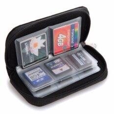 WOW กระเป๋าเก็บเมมโมรี่การ์ด สำหรับ CF, SD หรือ Micro SD card มีช่องทั้งหมด 22 ช่อง (สีดำ)
