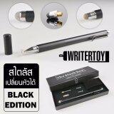 ราคา Writertoy ปากกา Ipad ปากกา Stylus ปากกาสไตลัส เปลี่ยนหัวได้ สำหรับเขียนไอแพด ไอโฟน และแท็บเล็ตทุกรุ่น รุ่น Hybrid Silver Version 4 ชุด Pro Classic Black Limited Edition สี Classic Black ออนไลน์ กรุงเทพมหานคร