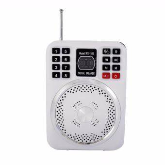 WS-1503 ลำโพงวิทยุขนาดพกพา รองรับ USB/TF Card อัดเสียงได้ พร้อมไมค์ครอบศีรษะ