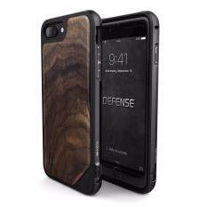 X-Doria Defense Lux - Military Grade Drop Tested, Anodized Aluminum, TPU, and Wood Protective Case for Apple iPhone 7 Plus, [Walnut]