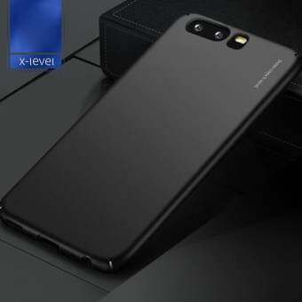 X-LEVEL Frosted PC Hard Phone Back Case for Huawei P10 - Black - intl-