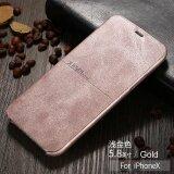 ซื้อ X Level Leather Phone Case For Iphone X Ultra Thin Flip Full Protective Cover For Apple Iphone X Mobile Accessories Intl ถูก จีน