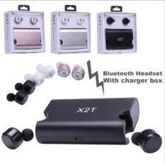 ซื้อ X2T Twins True Wireless Bluetooth Stereo Headset In Ear Earphones Earbuds หูฟังบลูทูธ หูฟังไร้สาย ใหม่ล่าสุด