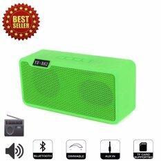 ซื้อ X62 Speaker Bluetooth Fm Radio Tf Black Usb ลำโพงไร้สายบลูทูธ สีเขียว ใหม่ล่าสุด