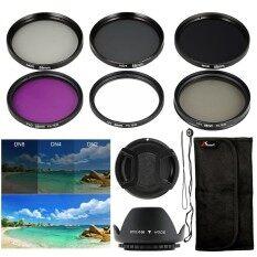 XCSource ชุดฟิลเตอร์  58mm Filter Set UV CPL FLD ND2 ND4 ND8 + Lens Hood + Cap สำหรับ Canon 18-55mm