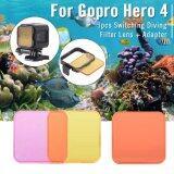 ซื้อ Xcsource ชุดฟิลเตอร์ถ่ายภาพใต้น้ำ 3 ชิ้น สีแดง สีม่วง สีเหลือง สำหรับ Gopro Hero4 Session ใหม่ล่าสุด