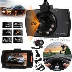 XCSource กล้องติดรถยนต์ HD 1080P 170° Dual Lens DVR Night Vision