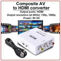 ส่วนลด สินค้า Xcsource Mini Av3 Rca Cvbs To Hdmi 720P 1080P Video อะแดปเตอร์สำหรับ Dvd Hdtv สีขาว