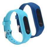 ซื้อ Mi Band 2 Bands Waterproof Silicone Wrist Strap Wristband Bracelet Replacement Accessories For Mi Band 2 Smart Miband Intl