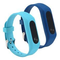 ขาย ซื้อ ออนไลน์ Mi Band 2 Bands Silicone Wrist Blet Strap Wristband Bracelet Accessories For Mi Band 2 Smart Watch Mi Band Intl