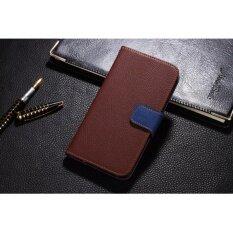 Xiaomi  Redmi Note 4/4x Flip Case  Flip Case (Snapdragon) เคส ฝาพับ หนัง ลาย 2 โทน สีดำ สีน้ำตาล