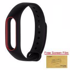 Xiaomi สายรัดข้อมือ Wristband for Xiaomi Mi Band 2 (ฺBlack Red + Free Screen Protector)