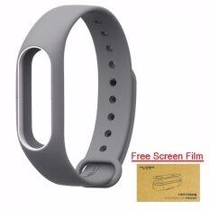 Xiaomi สายรัดข้อมือ Wristband for Xiaomi Mi Band 2 (Grey White + Free Screen Protector)