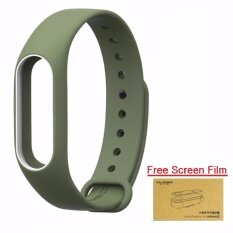 ซื้อ Xiaomi สายรัดข้อมือ Wristband For Xiaomi Mi Band 2 Navy Green White Free Screen Protector Xiaomi
