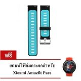 ซื้อ Xiaomi สายรัดข้อมือ Wristband Strap For Xiaomi Huami Amazfit Pace ดำ ฟ้า ฟิล์ม ออนไลน์ กรุงเทพมหานคร