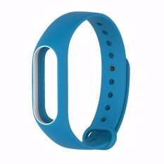 Xiaomi สายรัดข้อมือ Wristband Strap for Xiaomi Mi Band 2 (Light Blue White)