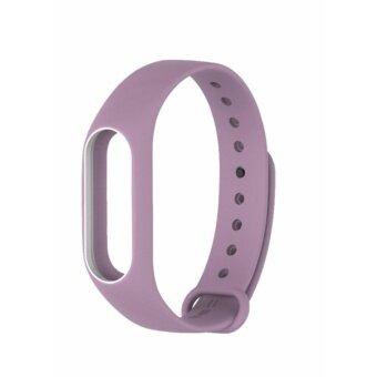 Xiaomi สายรัดข้อมือ Wristband Strap for Xiaomi Mi Band 2 (Purple White)