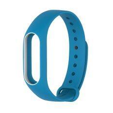 Xiaomi Wristband Strap for Xiaomi Mi Band 2 สายรัดข้อมือ (White Blue)