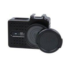 ราคา Xiaomi Xiaoyi Yi Ii 4 พันกีฬา Camera Cnc อลูมิเนียมอัลลอยด์ป้องกันกรณีที่มีตัวกรองรังสียูวีและเลนส์ฝาครอบป้องกัน สีดำ นานาชาติ ที่สุด